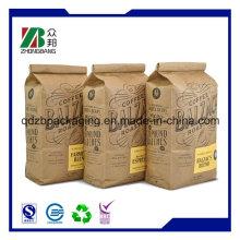 Multilayer Square Bottom Kraftpapier Tasche für Holzkohle