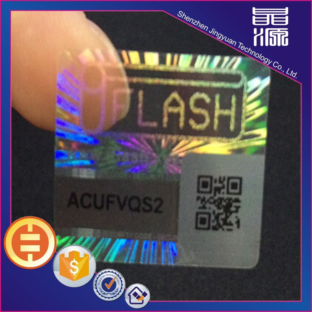 3d Custom QR code Security Label