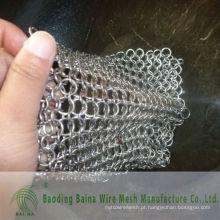 2015 Alibaba China fornece ferro fundido de aço limpa depilador de cadeia de aço inoxidável de 8 x 6 polegadas