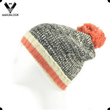 Latest Fashion Men Acrylic Knitting Hat with Pompom