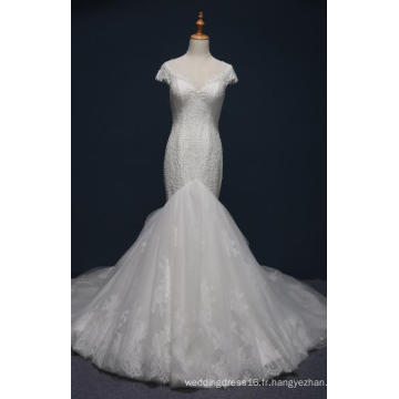 Robe de soirée en dentelle sirène soirée de bal robe de mariée