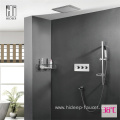 Wall Mounted Three Function Brass Shower Faucet Set