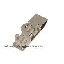 Promoción de publicidad regalo metal dinero clip con logotipo de impresión (f7006)