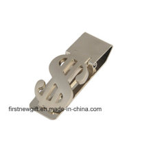 Promoção Publicidade Gift Metal Money Clip com Logo de impressão (F7006)