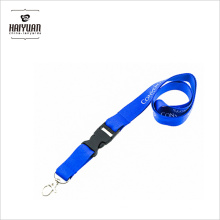 Detachable Wide Polyester Screen Printed Lanyards Plastic Buckle