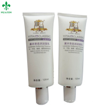 Tubo plástico cosmético do pacote de D45mm para o tubo macio cosmético do pe do corpo para cosméticos