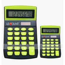 8 Digits Dual Power Mini Size Neon Desktop Calculator (LC276A)
