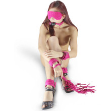 5PCS/Set Adult Sm Set Sex Handcuffs Ankle Cuff Gag Ball Sex Toys Bdsm Bandage Fetish Restraint
