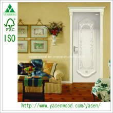 White Solid Wood Door Carvings Decorative Door