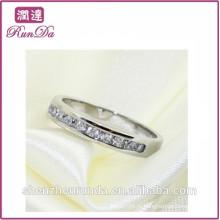 Alibaba atacado de aço inoxidável jóias anéis de diamante