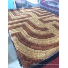 100% Polyester Stretch Silk Carpet Area Rug of Textile