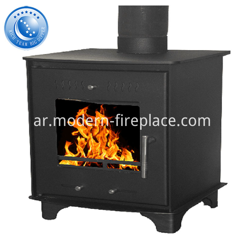 Classic Steel Plate Wood Coal Burning Stove
