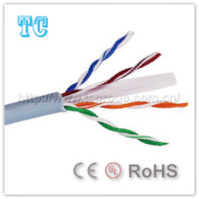 Cat 6 Cable de red UTP 23AWG Ce / RoHS Cable de LAN