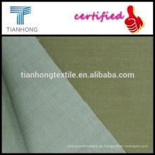 Khaki Baumwolle Viskose Twill Garn gefärbt gewebten Stretch-Stoff mit Slub für uniform