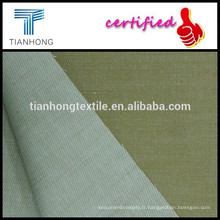 kaki coton sergé viscose filé teint du tissu stretch avec mèche uniforme