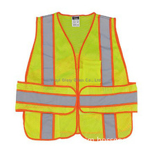 construction safety vest, two tone reflective vest, security workwear