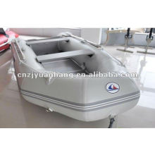 CE Approved wooden floor pvc portable fishing boat