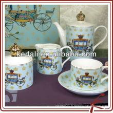 Pot de thé en céramique pot de sucre jeu de pot de lait