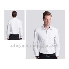 Camisa de vestir 100% algodón hombres camisa de negocios sin hierro Camisas de corte slim para hombres manga larga y corta FYST01-L