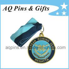Medalha de esportes por atacado com fita para regata