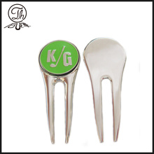 Golf ball marking divot repair tool
