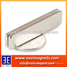 high coercive force permanent neodymium bar magnet in holding frame