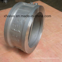 Wafer Type Double Disc Butterfly Flange End Check Valve
