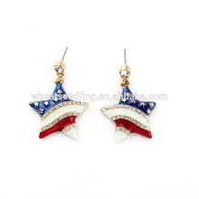 USA flag star stripe colored hoop old model earrings wholesale lot