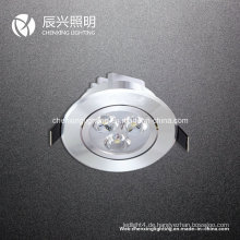 3W LED Deckenleuchte Aluminium