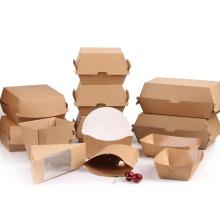 caja de hamburguesa de papel impresa personalizada caja de hamburguesa acanalada