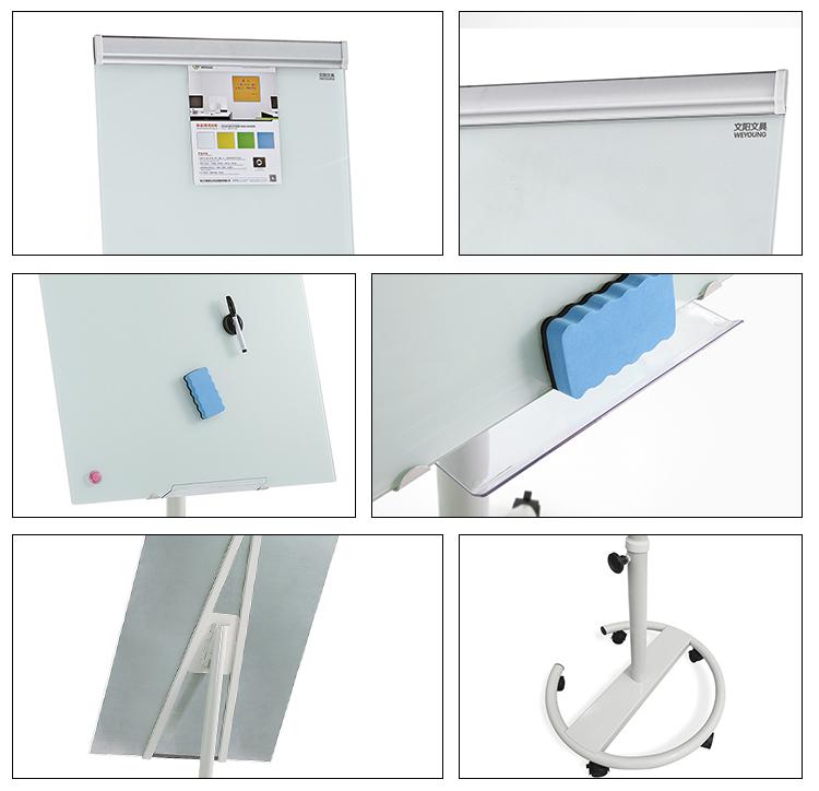 Office Magnetic Glass Flip Chart