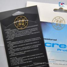 Transparente wasserdichte PVC-Etikettenaufkleber für Siegelzolldrucken