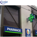 Display a LED WiFi Control P10 per farmacia Cross 100x100cm