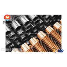 B338 Gr. 2 tubos aleteados en espiral de titanio extruido