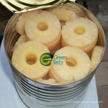 Tranches d'ananas en conserve / morceaux de sirop léger