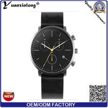 Yxl-469 завод пользовательские мода часы из нержавеющей стали кожаный наручные часы мужчины бизнес роскошные механические часы
