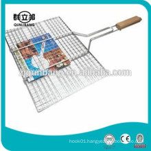 wooden handle barbecue bbq mesh,bbq grill mesh