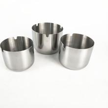 Cendrier de poche fait sur commande rond en métal / cendrier en acier inoxydable