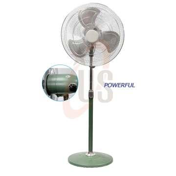 """18 """"Ventilador comercial verde poderoso do suporte do metal (USSF-307)"""