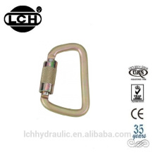 stainless steel carabiner clip hook with latch