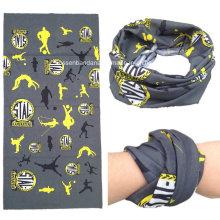 OEM Produce diseño personalizado multiusos Deportes al aire libre bufanda impresa bufanda