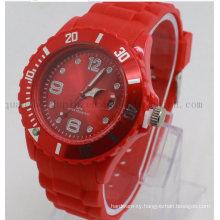 OEM Logo Fashion Wrist Silicone Sport Quartz Watch for Promotion