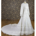 long sleeves pearl beaded muslim wedding dress wedding dress 2017