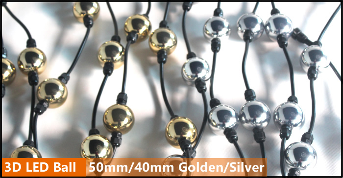 Gold silver cover 3D Ball