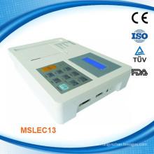 MSLEC13W 2015 Neue CE und ISO erwies sich als tragbares Digital-Drei- und Sechs-Kanal-EKG