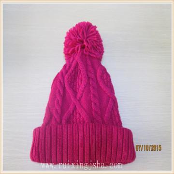 Pom Pom Hand Womens Crochet Knitted Winter Hats Pattern
