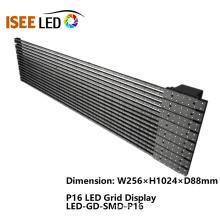 Visor de grade de LED de transparência ao ar livre P16