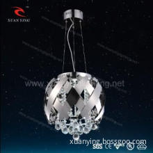 modern home led crystal hanging lamp with stainless steel