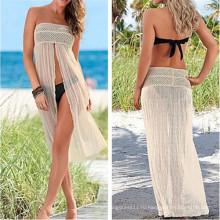 Сексуальная Открытым Semi Прозрачный Сексуальные Кружева Пляж Платье (50126)