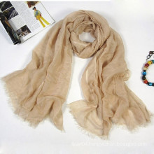 High qualiy infinity size linen scarf blended with silk